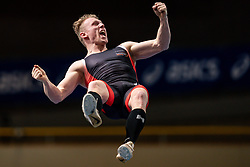 Menno Vloon in action on the pole vault during AA Drink Dutch Athletics Championship Indoor on 20 February 2021 in Apeldoorn.