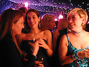 Emily Oppenheim, Jessica Rothschild and Cyril Campbhell. Moet & Chandon fashion Tribute. Shoreditch High St. London 24 October 2000. © Copyright Photograph by Dafydd Jones 66 Stockwell Park Rd. London SW9 0DA Tel 020 7733 0108 www.dafjones.com