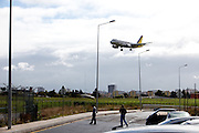 Airplanes fly over Portugal capital city, Lisbon. For and against the city airport, the discussion is at it´s peack if the instalation should be mantained or deslocated away from the Capital.