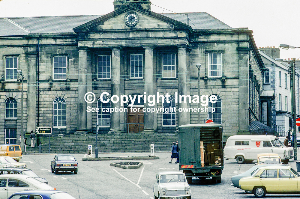 Courthouse, Omagh, Co Tyrone, N Ireland, UK, March 1978, 197803006298<br /><br />Copyright Image from images4media.com (or the named photographer)