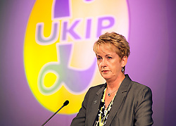 © Licensed to London News Pictures. 26/09/2014. Doncaster, UK . Jane Collins. The UKIP conference at Doncaster Racecourse Friday 26th September 2014. Photo credit : Stephen Simpson/LNP