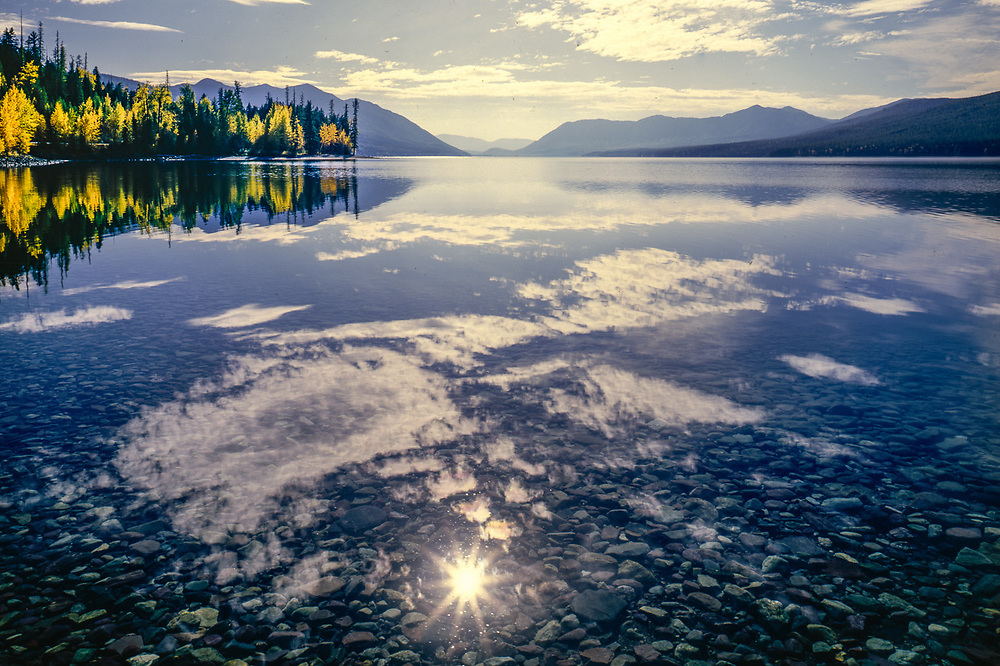 Lake McDonld, autumn, Glacier National Park, Montana, USA