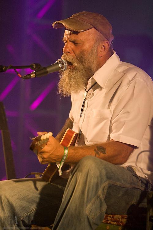 Seasick Steve plays live at the Summer Sundae 2007 festival, De Montfort Hall, Leicester, United Kingdom, 12th August 2007