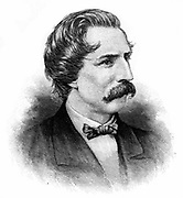 Artemus Ward, pseudonym of Charles Farrar Browne (1834-1867), c1880. American humourist and writer. Engraving.