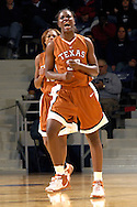 Texas forward Tiffany Jackson reacts after hitting a shot in the second half against Kansas State at Bramlage Coliseum in Manhattan, Kansas, February 3, 2007.  Texas defeated K-State 61-34.