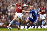 John Carew (Aston Villa) is chased by Mehdi Nafti (Birmingham City). Aston Villa Vs Birmingham City. Barclays Premier League. Villa Park. Birmingham. 20/04/2008 Credit Colorsport/Garry Bowden.