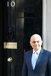 © Licensed to London News Pictures. 01/05/2018. London, UK. Newly appointed Home Secretary Sajid Javid arriving in Downing Street to attend a Cabinet meeting this morning. Cabinet positions have recently shuffled around, following Amber Rudd's resignation as Home Secretary, following the Windrush scandal. Photo credit : Tom Nicholson/LNP