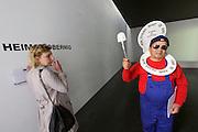"56th Art Biennale in Venice - All The World's Futures.<br /> Giardini.<br /> Austrian pavilion. Heimo Zobernig.<br /> Intervention by Fabio di Ojuara (""Now, Every Shit is Art"")."
