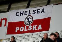 A polish Chelsea flag is put up on display <br /> <br /> Photographer /Ashley CrowdenCameraSport<br /> <br /> Football - Barclays Premiership - Swansea City v Chelsea - Saturday 17th January 2015 - Liberty Stadium - Swansea<br /> <br /> © CameraSport - 43 Linden Ave. Countesthorpe. Leicester. England. LE8 5PG - Tel: +44 (0) 116 277 4147 - admin@camerasport.com - www.camerasport.com