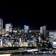 West Shinjuku skyline at night,