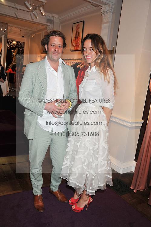 ALICE TEMPERLEY and LARS VON BENNIGSEN at the Frocks and Rocks party hosted by Alice Temperley and Jade Jagger at Temperley, Bruton Street, London on 25th April 2013.