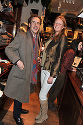 TOM INSKIP and OLIVIA INGE at a party hosted by TLC to celebrate signing their 5000th member and Ralph Lauren to celebrate the opening of the first Ralph Lauren Rugby store in the UK at 43 King Street, Covent Garden, London on 30th November 2011.
