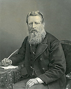 Stafford Henry Northcote, first Earl of Iddesleigh (1818-1887) English statesman. Chancellor of the Exchequer 1874. In 1876 he became leader of the Conservative party in the House of Commons. Engraving  after a photograph.