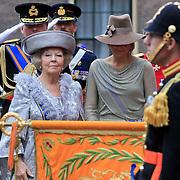 NLD/Den Haag/20110920 - Prinsjesdag 2011, aankomst kroonprins Willem - Alexander en Pr. Maxima en Koninging Beatrix