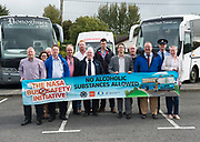 Repro free:  No Alcoholic Substances Allowed!<br /> <br /> Representatives from the HSE, An Garda Síochána, the WRDATF (Western Region Drugs Alcohol Taskforce) and the Road Safety Authority (RSA) and the Bus Companies who have signed up. <br /> <br /> <br /> This is the message and purpose of the NASA Bus Safety Initiative, which was launched in County Galway last Friday, the 8th of September in Coláiste Bhaile Chláir, Claregalway.<br /> Underage drinking, both before, and on the way to, junior discos and events, has become an increasing problem for parents, for bus operators, for An Garda Síochána and other public bodies such as our paramedic, ambulance and hospital services.<br /> On many occasions in recent years, we have seen undesirable outcomes and scenarios when young people have placed themselves and others at personal risk due to alcohol consumption. <br /> To try to alleviate this problem, and in response to the growing concern amongst professionals, parents and even young people themselves, the NASA (No Alcoholic Substances Allowed) Bus Safety Initiative has been developed. Its aim is to highlight and promote young people's safety when using private hire buses for travelling to and from events. <br /> The NASA Bus Safety Initiative has been developed by an inter-agency group consisting of representatives from the HSE, An Garda Síochána, the WRDATF (Western Region Drugs Alcohol Taskforce) and the Road Safety Authority (RSA)  Photo:Andrew Downes, xposure