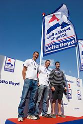 Medemblik - the Netherlands, May 31th 2009. Delta Lloyd Regatta in Medemblik (27/31 May 2009). Day 5, Medal races. Finn Podium.