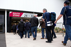 Bristol Rugby fans queue to get inside Ashton Gate - Mandatory byline: Robbie Stephenson/JMP - 25/05/2016 - RUGBY UNION - Ashton Gate Stadium - Bristol, England - Bristol Rugby v Doncaster Knights - Greene King IPA Championship Play Off FINAL 2nd Leg.