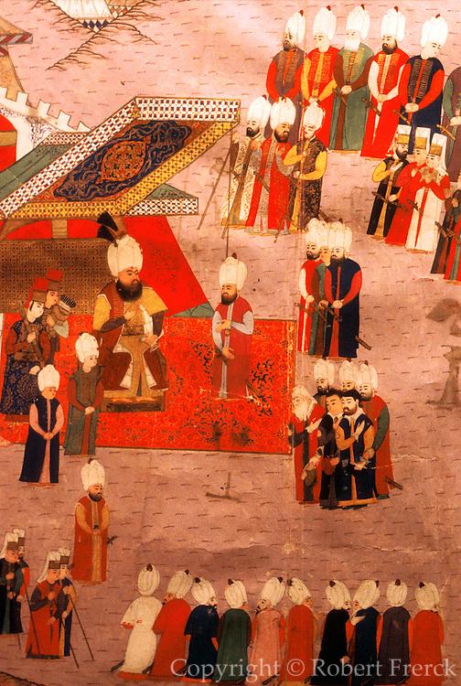 TURKEY, ISTANBUL, MUSEUM Topkapi Palace; Koran in Kufic