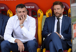 October 20, 2018 - Rome, Lazio, Italy - Eusebio Di Francesco (R) during the Italian Serie A football match between A.S. Roma and Spal at the Olympic Stadium in Rome, on october 20, 2018. (Credit Image: © Silvia Lore/NurPhoto via ZUMA Press)