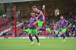 Josh Brownhill of Bristol City celebrates scoring a goal - Mandatory by-line: Dougie Allward/JMP - 15/08/2017 - FOOTBALL - Griffin Park - Brentford, England - Brentford v Bristol City - Sky Bet Championship