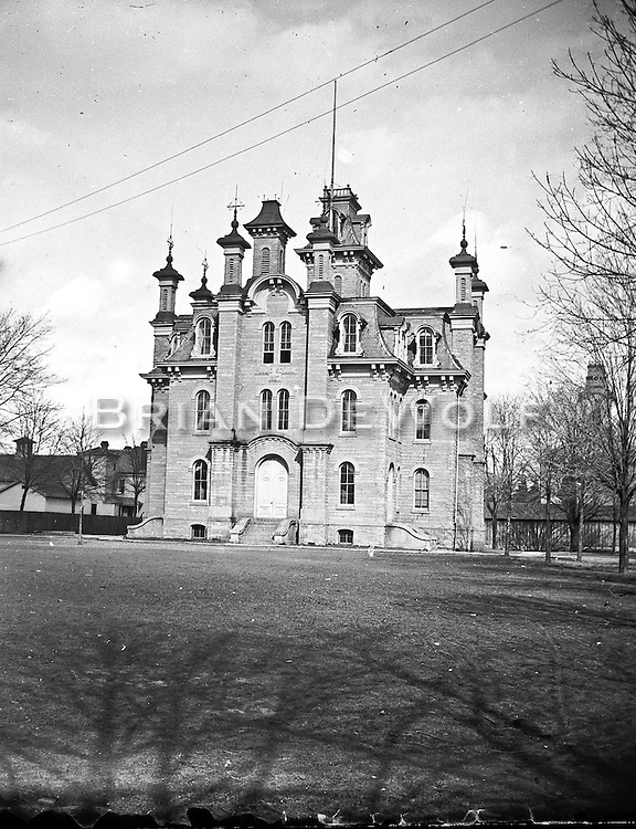 The Batavia History Center knew the name of this house, but I don't recall it. It was located on the property of the current Bethany Lutheran Church, 8 S. Lincoln St. I was told the tower appearing in the background on the right is the old steeple of the Congregational Church on S. Batavia Avenue.