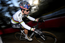 February 10, 2018 - Lille, BELGIUM - Belgian world champion Wout Van Aert pictured in action during the men's elite race of the Krawatencross cyclocross in Lille, the eighth and last stage in the DVV Verzekeringen Trofee Cyclocross competition, Saturday 10 February 2018. BELGA PHOTO DAVID STOCKMAN (Credit Image: © David Stockman/Belga via ZUMA Press)