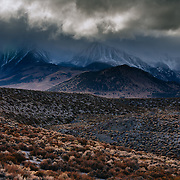 Conway Summit along Highway 395 in the Eastern Sierras Northern California near Mono Lake.