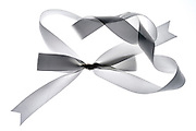 a white gift ribbon