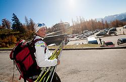 Katja Visnar during Training camp of Slovenian Cross country Ski team on October 23, 2012 in Dachstein Getscher, Austria. (Photo By Vid Ponikvar / Sportida)