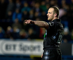 Nick Grigg of Glasgow Warriors<br /> <br /> Photographer Simon King/Replay Images<br /> <br /> Guinness PRO14 Round 15 - Cardiff Blues v Glasgow Warriors - Saturday 16th February 2019 - Cardiff Arms Park - Cardiff<br /> <br /> World Copyright © Replay Images . All rights reserved. info@replayimages.co.uk - http://replayimages.co.uk