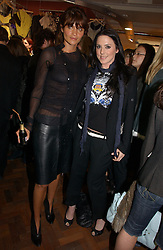 Left to right, model HELENA CHRISTENSEN and Singer MEL C formerly of the Spicegirls at a party to celebrate the opening of the new fashion store Jezebell at 59 Blandford Street, London W1 on 20th April 2006.<br />