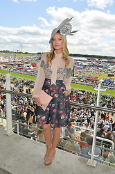 LAURA WHITMORE at the Investec Derby 2015 at Epsom Racecourse, Epsom, Surrey on 6th June 2015.
