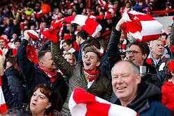 Bristol City fans wave their scarves before the match - Photo mandatory by-line: Rogan Thomson/JMP - 07966 386802 - 25/01/2015 - SPORT - FOOTBALL - Bristol, England - Ashton Gate Stadium - Bristol City v West Ham United - FA Cup Fourth Round Proper.