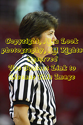 07 December 2012:  Referee Tina Napier during an NCAA women's basketball game between the Northwestern Wildcats and the Illinois Sate Redbirds at Redbird Arena in Normal IL