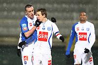 FOOTBALL - FRENCH CUP 2009/2010 - 1/8 FINAL - 10/02/2010 - AJ AUXERRE v STADE PLABENNECOIS - PHOTO ERIC BRETAGNON / DPPI - JOY BENOIT PEDRETTI (AUX)