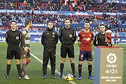 February 3, 2019 - Pamplona, Spain - Captains of both teams and the referees are seen before the Spanish football of La Liga 123, match between CA Osasuna and  Granada CF at the Sadar stadium, in Pamplona (Navarra), Spain. (Credit Image: © Fernando Pidal/SOPA Images via ZUMA Wire)