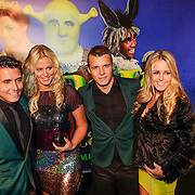 NLD/Amsterdam/20121104 - Premiere Shrek de musical, Monique Smit en partner Jeffrey Bok, Jan Smit en partner Liza Plat