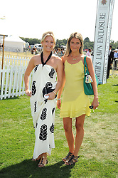 Left to right, OLIVIA BUCKINGHAM and VIOLET VON WESTENHOLZ at the Cartier International Polo at Guards Polo Club, Windsor Great Park on 27th July 2008.<br /> <br /> NON EXCLUSIVE - WORLD RIGHTS