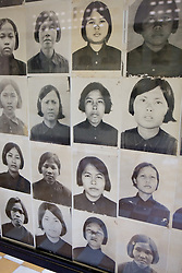 Photos Of Woman Victims, Tuol Sleng Genocide Museum
