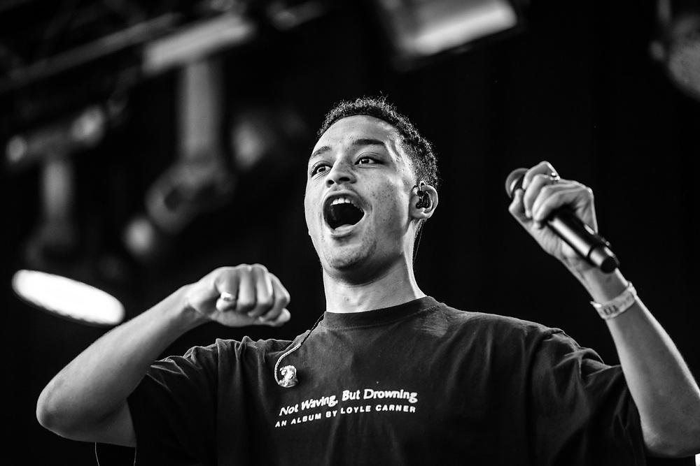 British hip-hop artist Benjamin Gerard Coyle-Larner aka Loyle Carner at Haldern Pop Festival