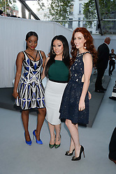 Left to right, Keisha Buchanan, Mutya Buena and Siobhan Donagh of MKS at the Glamour Women of the Year Awards in association with Pandora held in Berkeley Square Gardens, London on 4th June 2013.