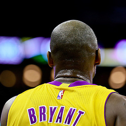 Feb 4, 2016; New Orleans, LA, USA; Los Angeles Lakers forward Kobe Bryant (24) during a game against the New Orleans Pelicans at the Smoothie King Center. The Lakers defeated the Pelicans 99-96. Mandatory Credit: Derick E. Hingle-USA TODAY Sports