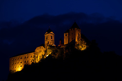 The Castle Branzoll in Klausen / Chiusa is the trademark of the city of Klausen / Chiusa. Dolomite Mountains, South Tyrol, Italy