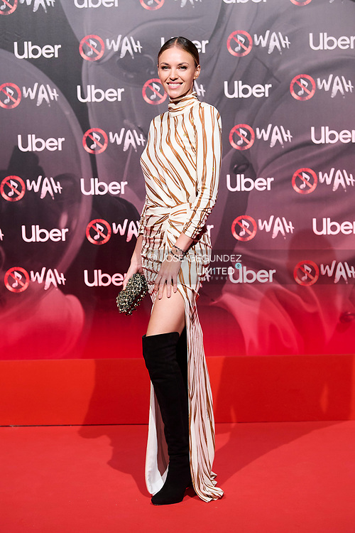 Helen Lindes attends 'Wah' Musical Show World Premiere Red Carpet at IFEMA on October 7, 2021 in Madrid, Spain