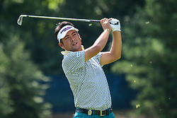 August 9, 2018 - Town And Country, Missouri, U.S - YUTA IKEDA from Japan hits his tee shot on hole number 13 during round one of the 100th PGA Championship on Thursday, August 8, 2018, held at Bellerive Country Club in Town and Country, MO (Photo credit Richard Ulreich / ZUMA Press) (Credit Image: © Richard Ulreich via ZUMA Wire)