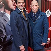 NLD/Amsterdam/20150208 - Herpremiere Sonneveld, Maurice Wijnen en partner Ronald den Ouden