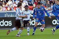 Fotball tippeligaen 150407 Rosenborg ( RBK ) - Tromsø ( TIL ) 4-3,<br /> Roar Strand, Abdoulrazak Traoure og Lars Iver Strand<br /> Foto: Carl-Erik Eriksson, Digitalsport