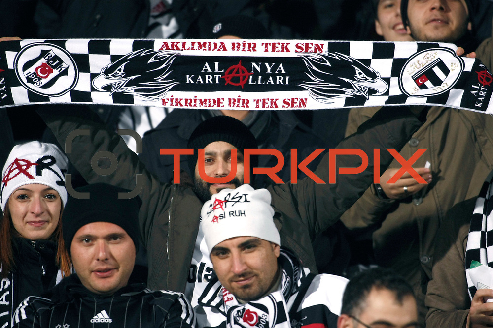Besiktas's supporters during their Turkish Superleague soccer match Ankaragucu between Besiktas at the 19 Mayis stadium in Ankara Turkey on Sunday 08 January 2012. Photo by TURKPIX