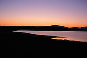 Landscape at dusk Ashokan reservoir NY