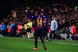 February 6, 2019 - Barcelona, BARCELONA, Spain - 14 Malcom of FC Barcelona celebrating his goal during the semi-final first leg of Spanish King Cup / Copa del Rey football match between FC Barcelona and Real Madrid on 04 of February of 2019 at Camp Nou stadium in Barcelona, Spain (Credit Image: © AFP7 via ZUMA Wire)